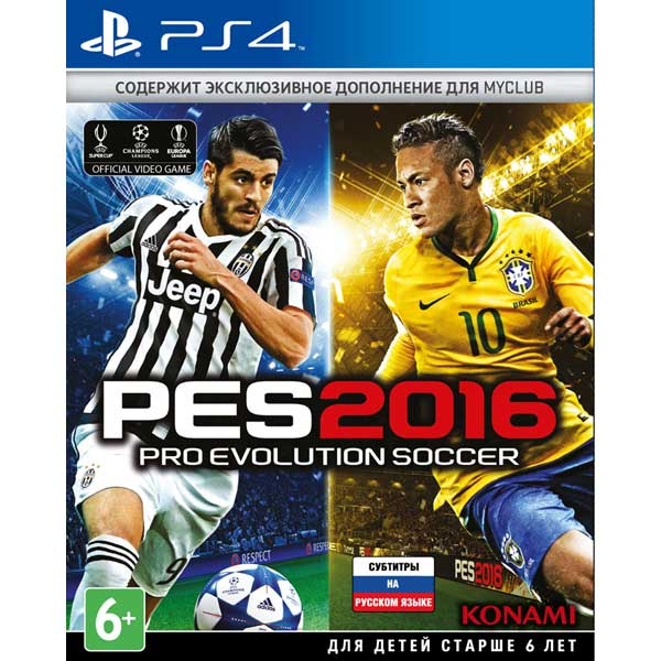PS4 игра Konami Pro Evolution Soccer 2016