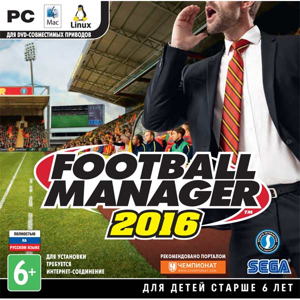 Видеоигра для PC . Football Manager 2016 manager