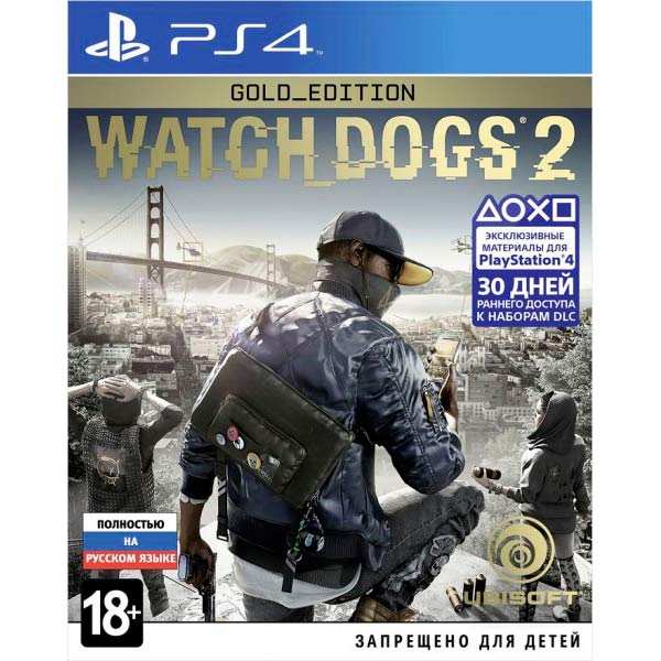 Видеоигра для PS4 . Watch Dogs 2 Gold Edition