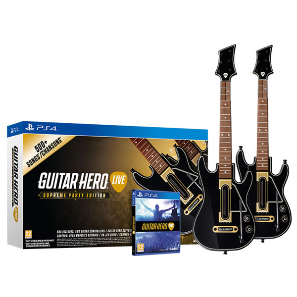 Видеоигра для PS4 . Guitar Hero Live Supreme Party Edition Гитары.