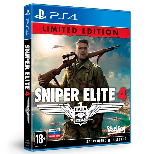 Видеоигра для PS4 . Sniper Elite 4 Limited Edition sniper elite 3 ultimate edition ps4