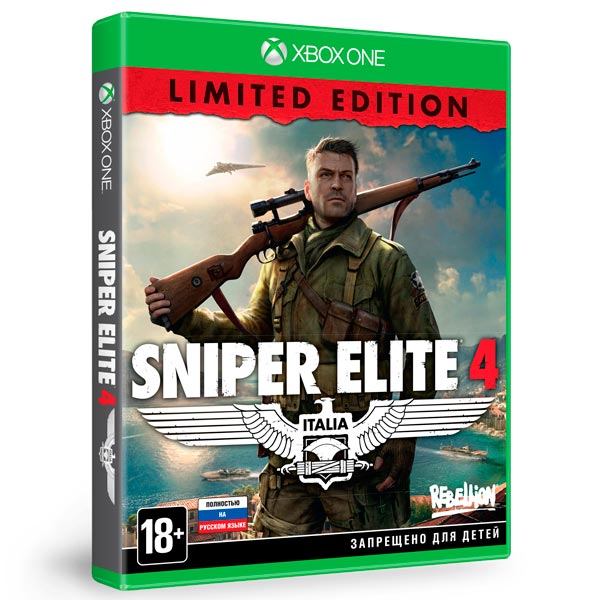 Видеоигра для Xbox One . Sniper Elite 4 Limited Edition sniper elite 3 ultimate edition ps4