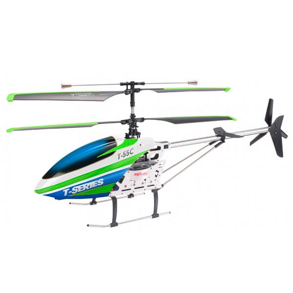 Радиоуправляемый вертолет MJX T55 зеленый (T55FPV-G) радиоуправляемый квадрокоптер с барометром mjx x401h g золотой fpv 2 4g x401h g mjx