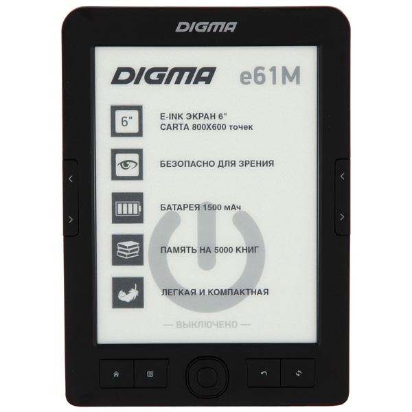 Электронная Книга Digma E61M черный электронная книга digma r63s