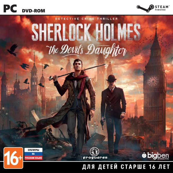 Видеоигра для PC . Sherlock Holmes: The Devil's Daughter игра для playstation 4 sherlock holmes crimes