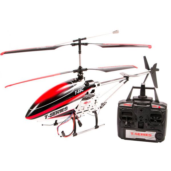Радиоуправляемый вертолет MJX T55 (красный) c FPV камерой 2.4G радиоуправляемый квадрокоптер с барометром mjx x401h g золотой fpv 2 4g x401h g mjx