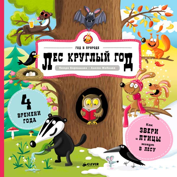Книга для детей Clever Лес круглый год