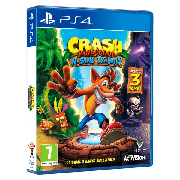 Видеоигра для PS4 . Crash Bandicoot N'sane Trilogy видеоигра для ps4 just dance 2018