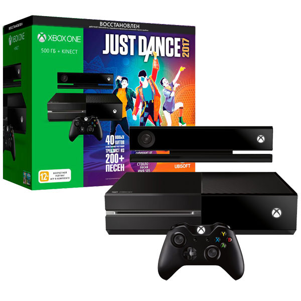 Игровая консоль Xbox One Microsoft 500Gb Kinect + Just Dance 2017 Восcтановленная 4pcs hiwin linear rail hgr20 300mm 8pcs carriage flange hgw20ca 2pcs hiwin linear rail hgr20 400mm 4pcs carriage hgh20ca