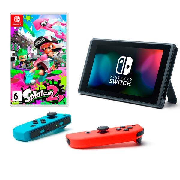 Игровая приставка Nintendo Switch Splatoon 2 Bundle красный/синий