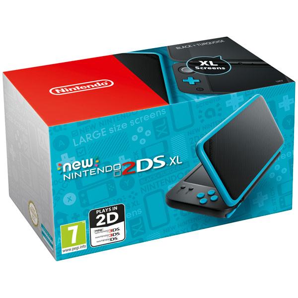 Игровая приставка Nintendo 2DS XL (черный + бирюзовый)