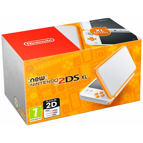 Игровая приставка Nintendo 2DS XL (белый + оранжевый) datel ar power saves for nintendo new 3ds xl 2ds eu au pal version