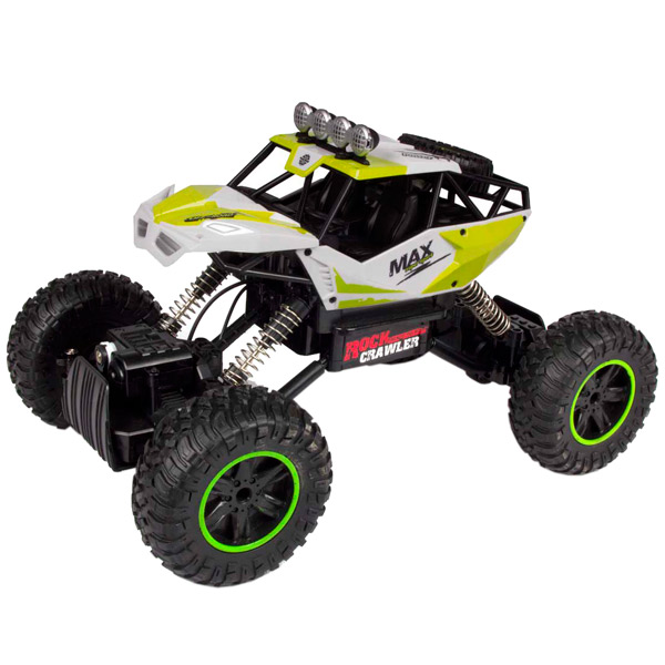 Радиоуправляемая машина Blue Sea Rock crawler, 1:14, 4WD зеленый mxfans 4 x rc1 10 rock crawler grey alloy 7 spoke wheel rim simulation rubber tyre