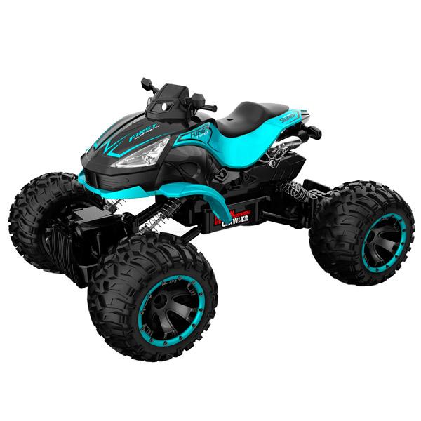Радиоуправляемая машина Blue Sea квадроцикл Rock crawler, 1:14, 4WD синий mxfans 4 x rc1 10 rock crawler grey alloy 7 spoke wheel rim simulation rubber tyre