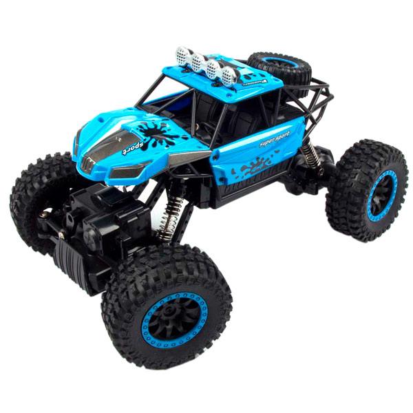 Радиоуправляемая машина Blue Sea Rock crawler, 1:18, 4WD синий mxfans 4 x rc1 10 rock crawler grey alloy 7 spoke wheel rim simulation rubber tyre