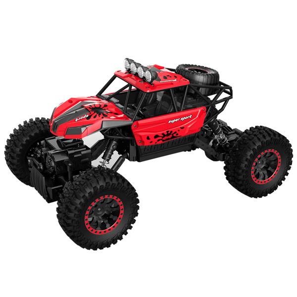 Радиоуправляемая машина Blue Sea Rock crawler, 1:18, 4WD красный mxfans 4 x rc1 10 rock crawler grey alloy 7 spoke wheel rim simulation rubber tyre