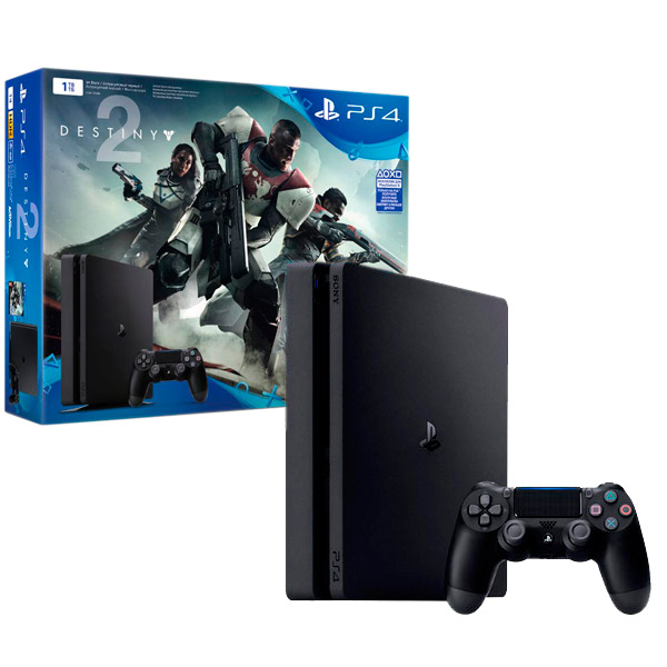 Игровая консоль PlayStation 4 1Tb + Destiny 2 (CUH-2108B) игровая приставка sony playstation 4 1tb slim cuh 2108b gow