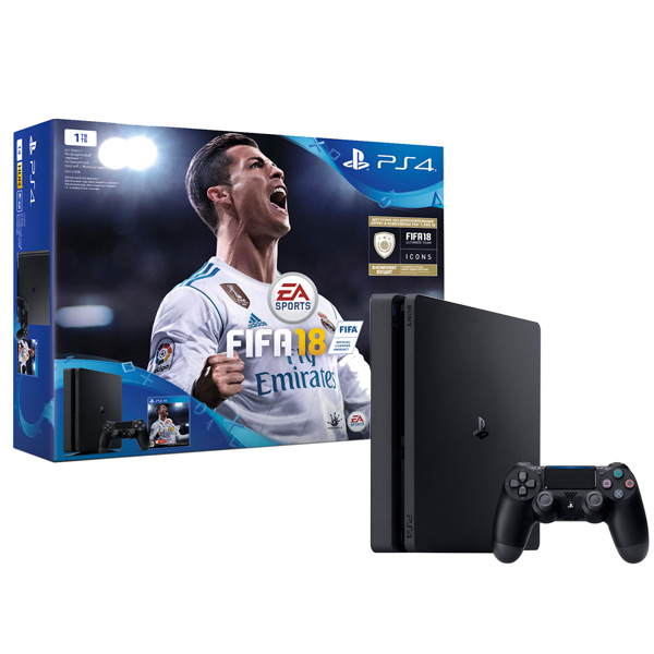 Игровая консоль PlayStation 4 1Tb FIFA 18 + PS Plus 14 дней (CUH-2108B) приставка sony playstation 4 1tb fifa 18 ps plus 14 дней cuh 2108b