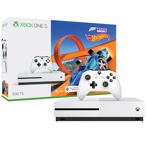 Игровая консоль Xbox One Microsoft S 500 GB белая + Forza Horizon 3 +DLC (ZQ9-00212) игровая консоль microsoft xbox 360 500 gb fh2 wired gamepad 3m4 00043 s
