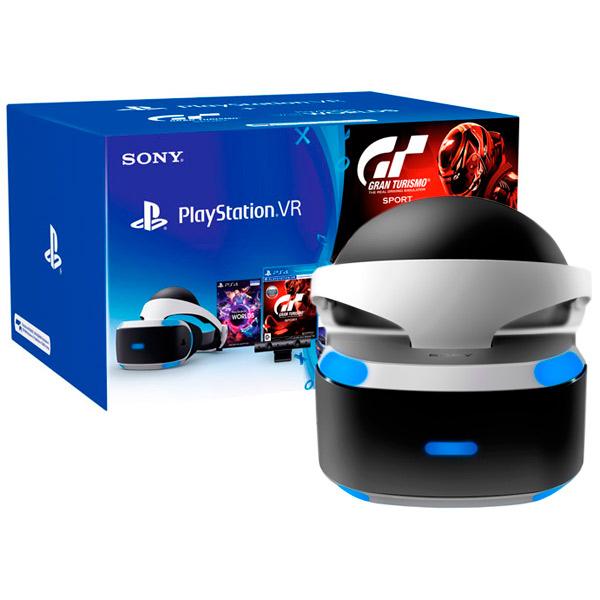 все цены на Аксессуар для игровой консоли PlayStation 4 Шлем + Gran Turismo Sport+VR Worlds (CUH-ZVR1)