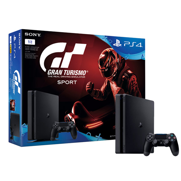 Игровая консоль PlayStation 4 1TB + Gran Turismo Sport (CUH-2108B) игровая консоль playstation 4 slim 1tb cuh 2108b call of duty world war ii