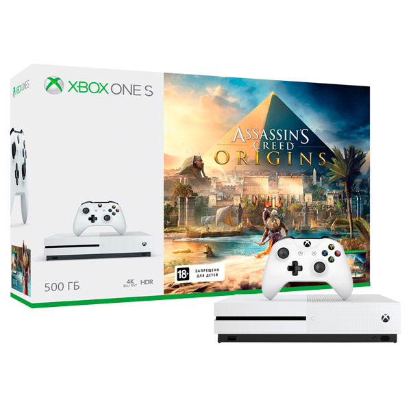 Игровая консоль Xbox One Microsoft S 500GB + Assassin's Creed Origins (ZQ9-00235) mike davis knight s microsoft business intelligence 24 hour trainer