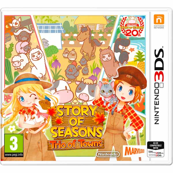 Игра для Nintendo Story of Seasons: Trio of Towns флер фактура лепестка мака fleur красная