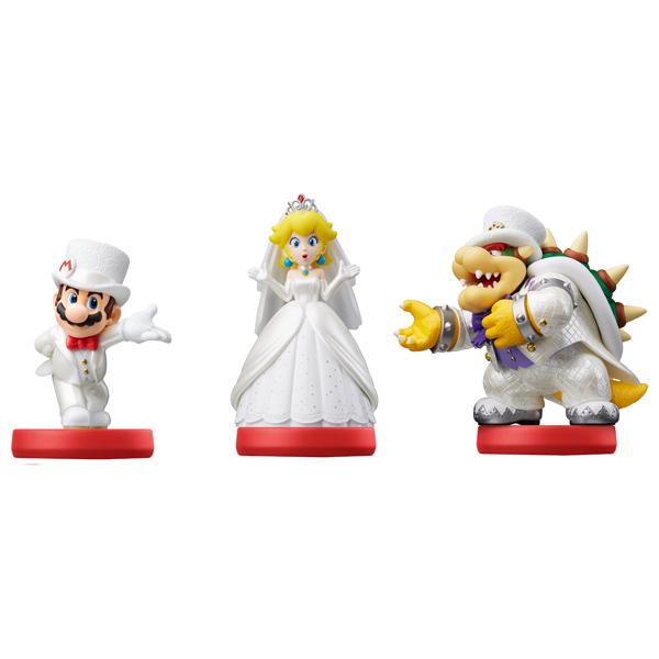 Фигурка Amiibo Марио/Пич/Боузер Свадьба Super Mario Коллекция