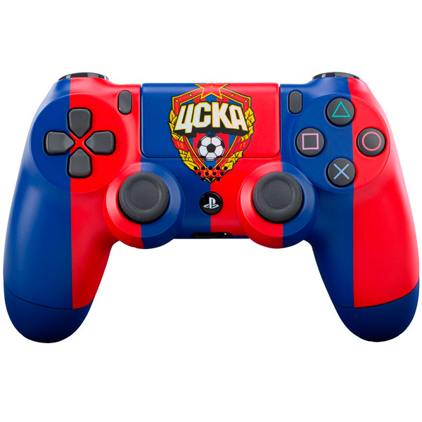 Аксессуар для игровой консоли PlayStation 4 DualShock 4 ЦСКА Красно-Синий игровая приставка sony playstation 4 slim 1tb fifa 18 dualshock 4