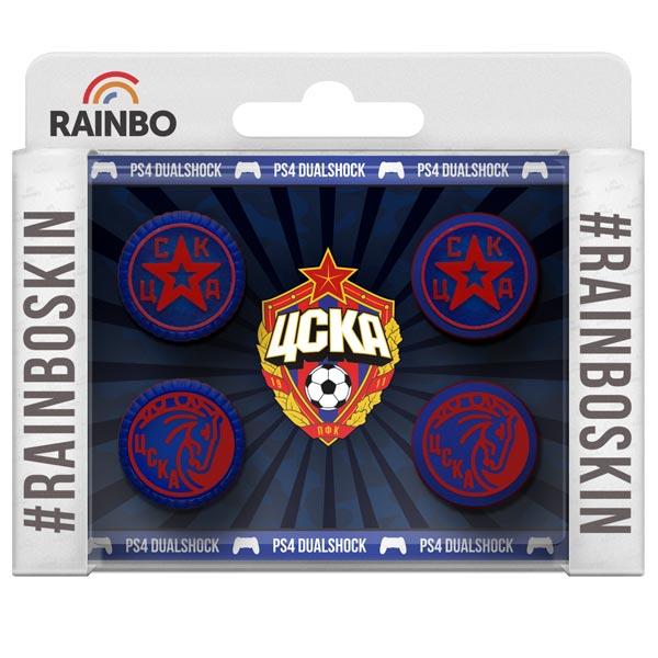 Аксессуар для игровой консоли Rainbo Накладки на стики для геймпада DualShock4 ЦСКА аксессуар для игровой консоли rainbo накладки на стики для геймпада цска