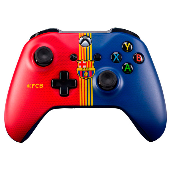 Аксессуар для игровой консоли Microsoft Беспроводной геймпад Барселона.Клубный аксессуар для игровой консоли rainbo накладки на стики для геймпада зенит