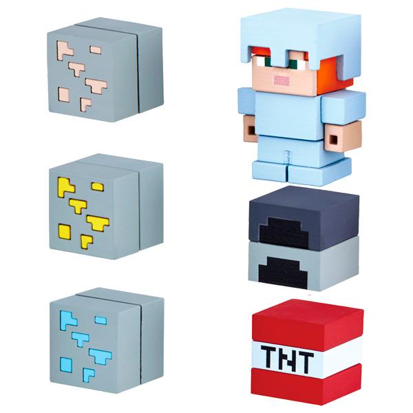 Фигурка Bandai Minecraft Mine-Cade Adv Pack Alex W 4,1см (6 шт.) фигурка minecraft adventure alex 10 см