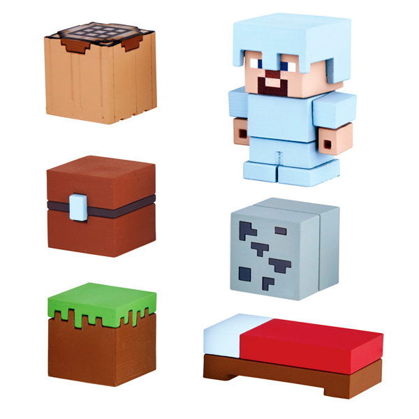 Фигурка Bandai Minecraft Mine-Keshi Starter Set 4,1 см (6 шт.)