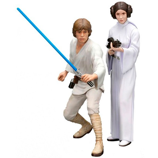 Фигурка Kotobukiya Star Wars Luke Skywalker and Princess Leia 16 см building blocks star wars the force awakens phasma storm jedi clone trooper luke skywalker bricks model toys for children xh 146