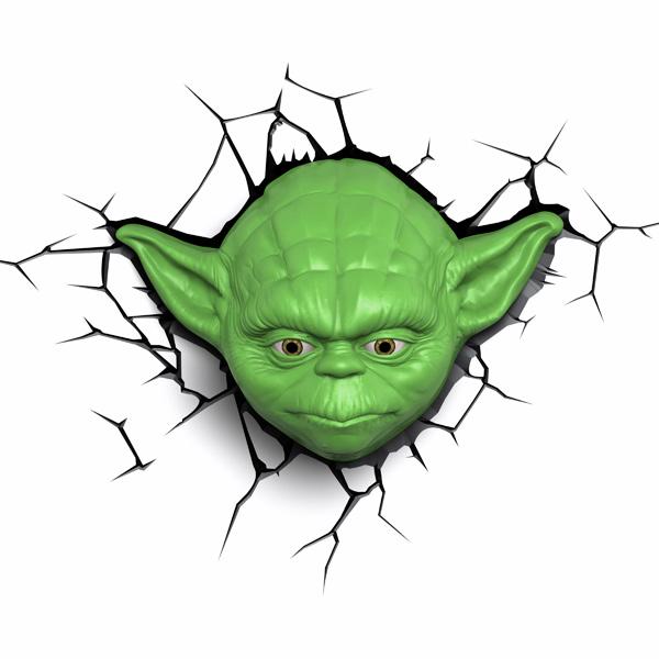 Фигурка 3DLightFX Светильник 3D Star Wars Yoda Face светильник декоративный 3dlightfx sw darth vader saber 3d