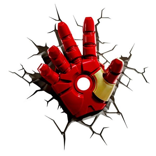 Фигурка 3DLightFX Светильник 3D Classic Iron Man Hand светильник декоративный 3dlightfx sw darth vader saber 3d