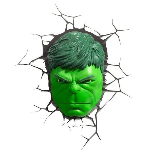 Фигурка 3DLightFX Светильник 3D Hulk Face светильник декоративный 3dlightfx sw darth vader saber 3d