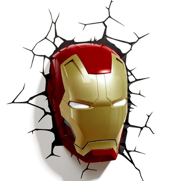Фигурка 3DLightFX Светильник 3D Classic Iron Man Mask светильник декоративный 3dlightfx sw darth vader saber 3d