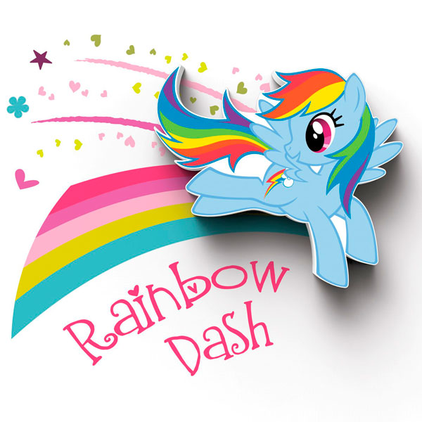 Фигурка 3DLightFX Светильник 3D MLP Mini Rainbow Dash