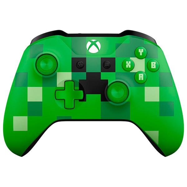 Аксессуар для игровой консоли Microsoft Беспроводной геймпад Minecraft Creeper(WL3-00057) кастомизированный беспроводной геймпад для xbox one гладиатор