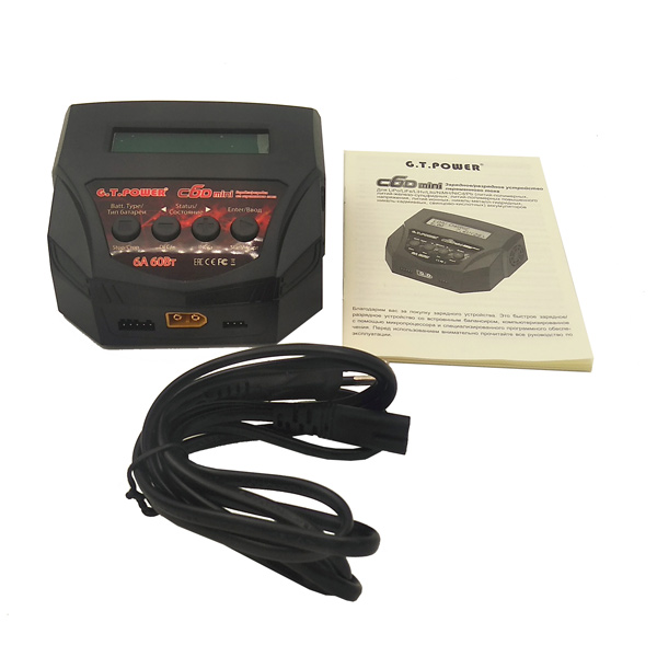Аксессуар для радиоуправляемых устройств G.T.POWER зарядное устройство 6A 60W (GTP-C6D-MINI)