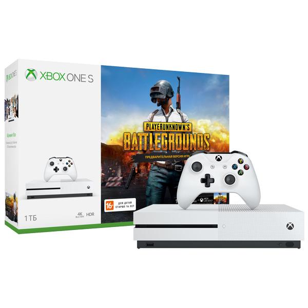 Игровая консоль Xbox One Microsoft S 1 ТБ+PUBG (код)+XboxLiveGold 1 мес+Game Pass 1м