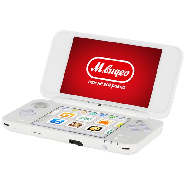 Игровая приставка Nintendo 3DS Nintendo 2DS XL White x Lavender + Tomodachi Life protective eva bag for nintendo ds lite nintendo dsi xl white