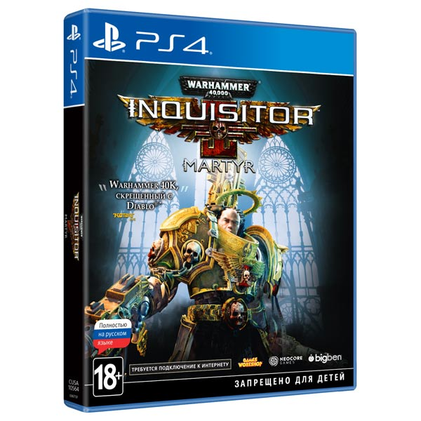 PS4 игра Bigben Warhammer 40,000: Inquisitor - Martyr