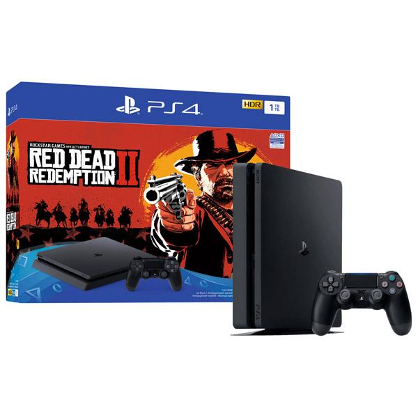 Игровая приставка PS4 PlayStation 4 1TB + Red Dead Redemption 2