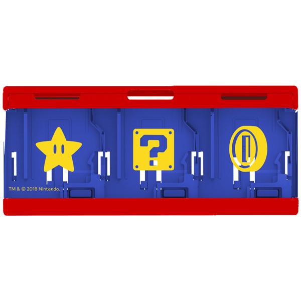 Аксессуар для игровой приставки Hori Кейс Mario для хранения 6 игровых картриджей