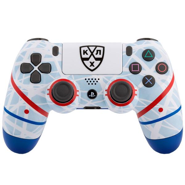 Геймпад для консоли PS4 PlayStation 4 Rainbo — DualShock 4 КХЛ Русский Лёд