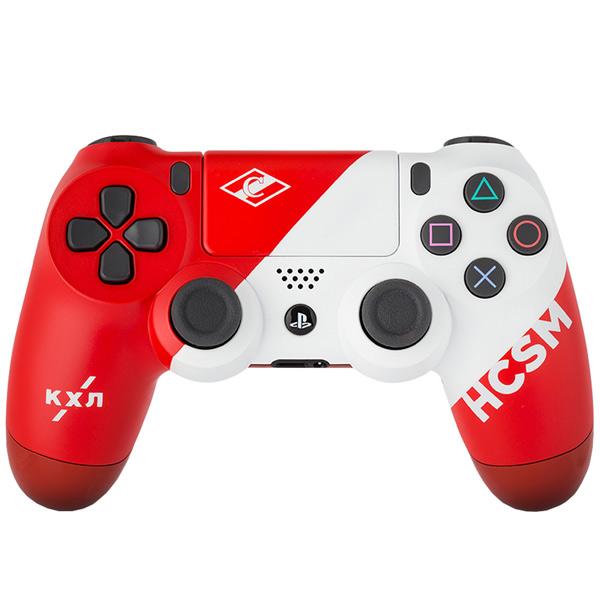 Геймпад для консоли PS4 PlayStation 4 Rainbo — DualShock 4 КХЛ Спартак