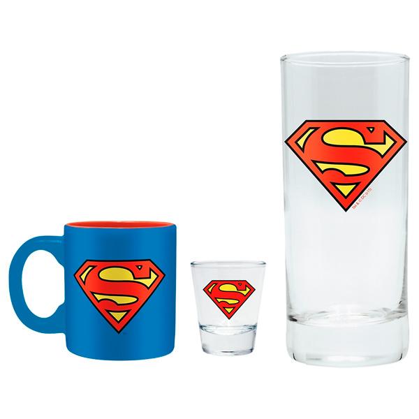 Набор ABYstyle Бокал+Рюмка+Кружка DC Comics: Superman блокнот abystyle graphic superman abynot005