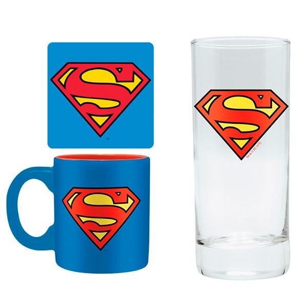 Набор ABYstyle Бокал+Подставки+Кружка DC Comics: Superman блокнот abystyle graphic superman abynot005